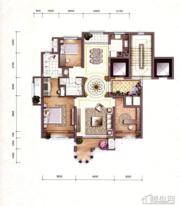 凡尔赛观邸A6户型图