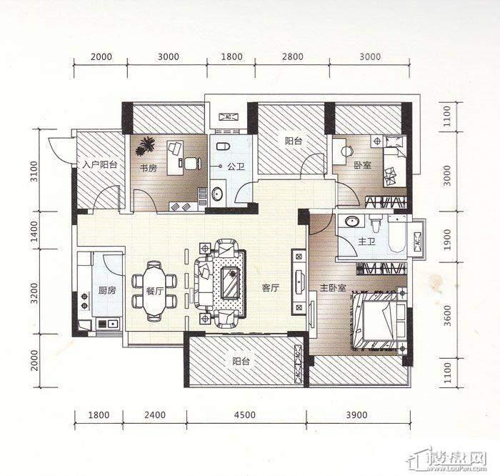 汇东郦城户型图