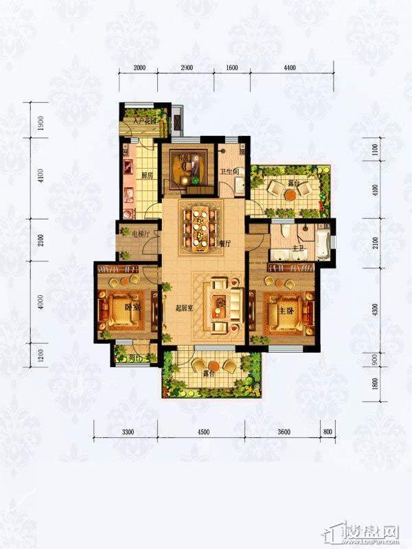 1#3#楼1-601 3室2厅2卫1厨-116.00㎡
