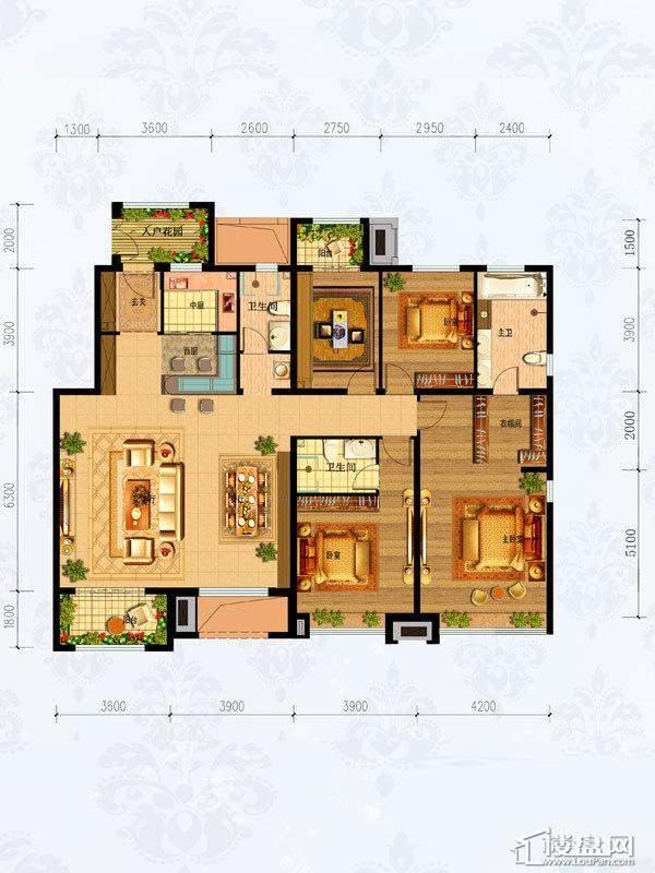 4#-6#楼1-501 4室2厅3卫1厨-196.00㎡