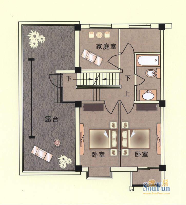 东山逸墅二层平面图