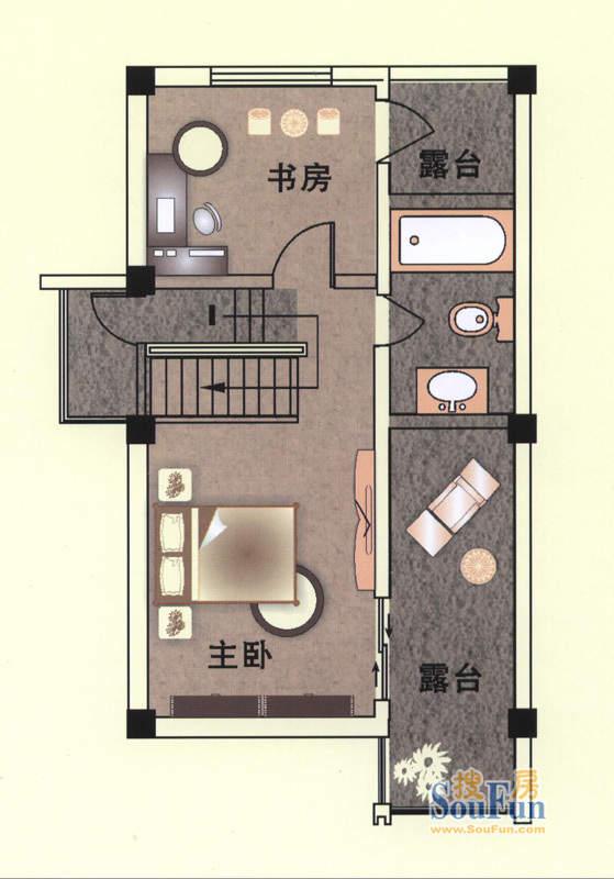 东山逸墅三层平面图