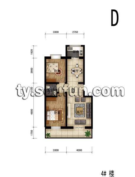 佳宏苑2室2厅1卫1厨104.31平米户