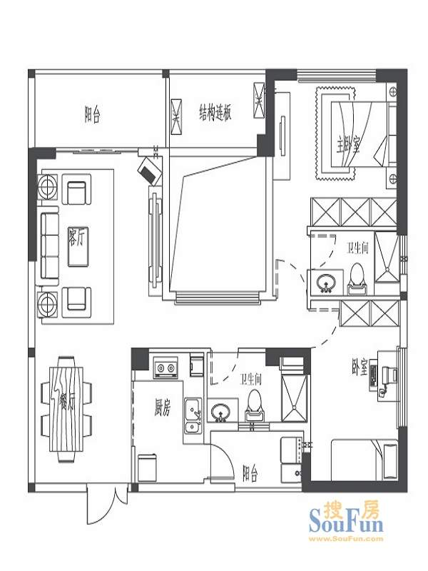世欧上江城10#11#楼03单元标准层