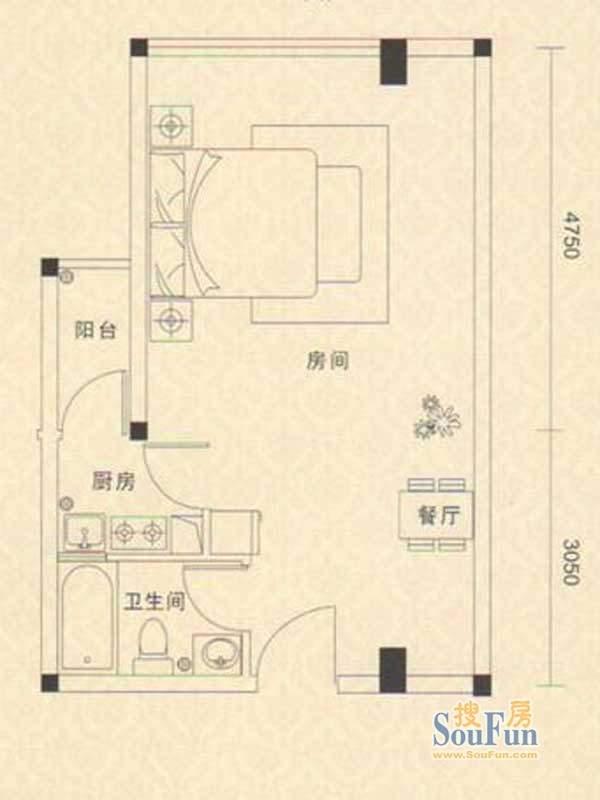 凯都国际15层、16层03户型