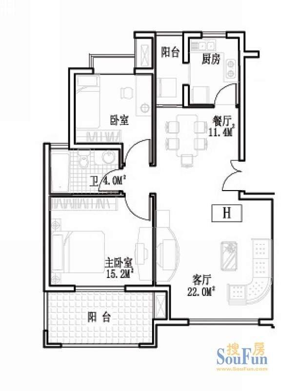 盛世东方026-10号楼户型图