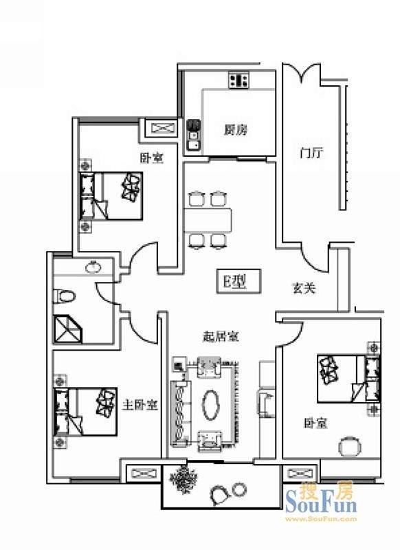 盛世东方022-6#7#号户型图