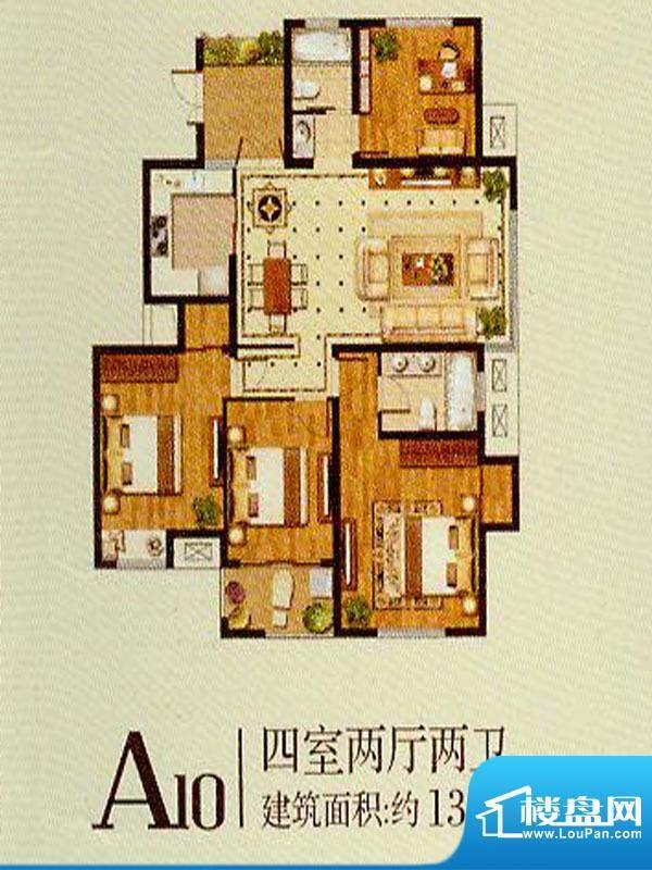 润金城A10户型 4室2面积:138.00平米