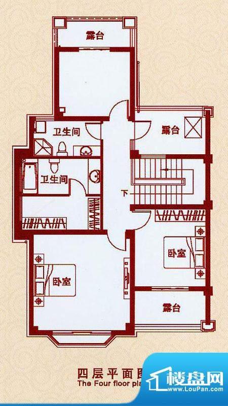 天虹世纪城A2户型四面积:195.00平米