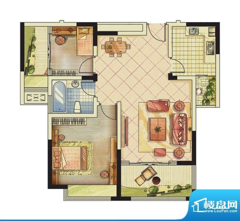 海峡曼乔世家2#楼H1面积:84.00平米