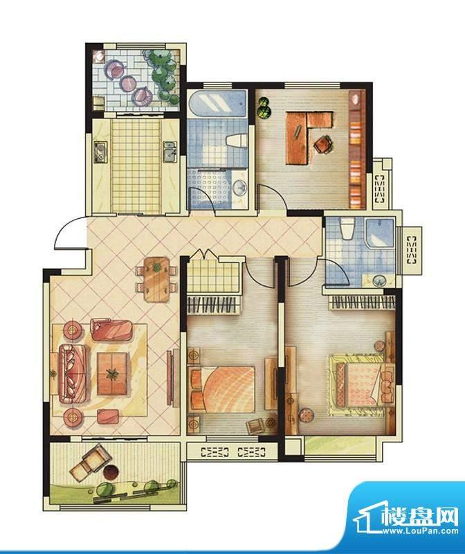 海峡曼乔世家3#楼A1面积:122.00平米
