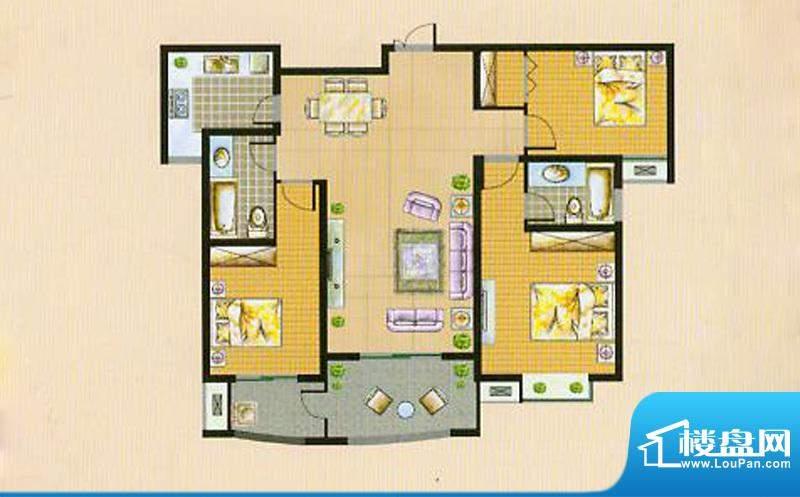 翠湖御景A2 3室2厅2面积:126.15平米