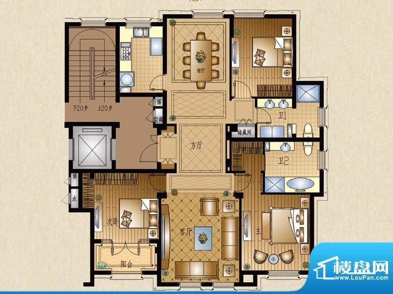 运河一品3号楼301室面积:153.24平米