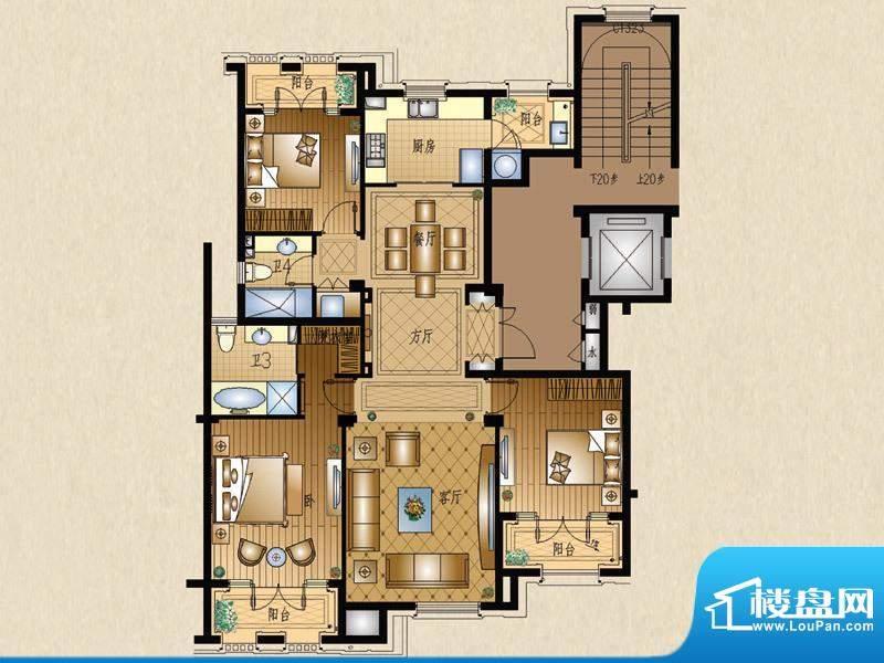 运河一品3号楼302室面积:146.70平米