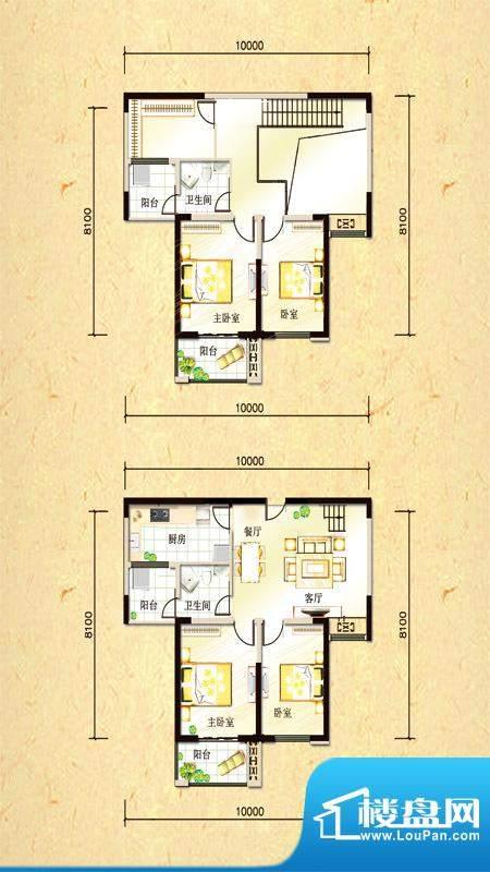 尚都国际复式 4室2厅面积:156.16平米