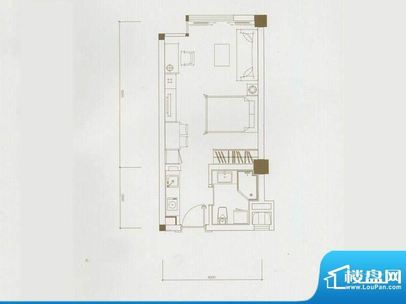 运河壹号公馆精装公面积:45.89平米