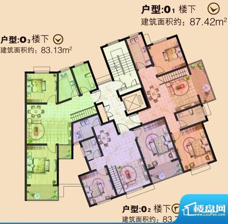 文华美景O户型楼下 面积:0.00平米