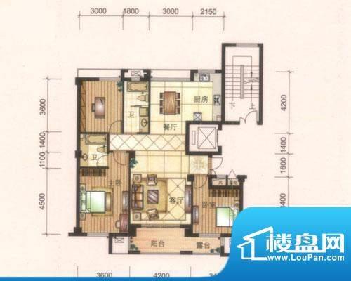 旺庭公馆3#、5#楼F2面积:135.00平米
