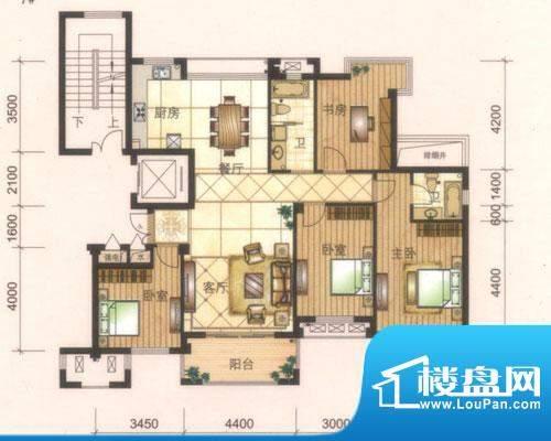 旺庭公馆5#楼G户型 面积:160.00平米