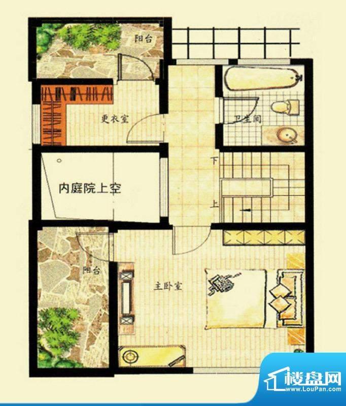 水韵福邸M户型三层 面积:231.00平米