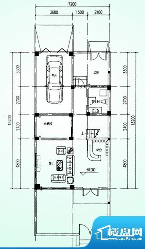 水韵福邸A户型一层 面积:231.00平米