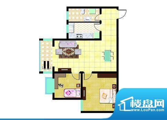 锦祥鑫贵C户型 2室2面积:86.36平米
