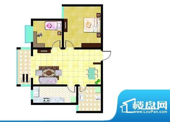 锦祥鑫贵D户型 2室2面积:83.63平米