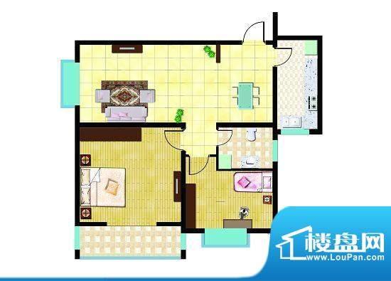 锦祥鑫贵E户型 2室2面积:97.75平米