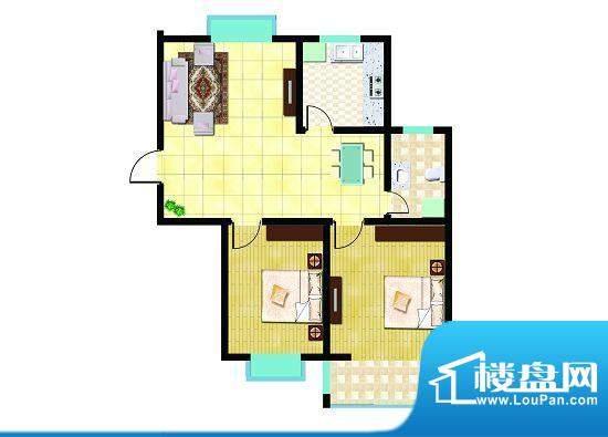 锦祥鑫贵F户型 2室2面积:89.19平米