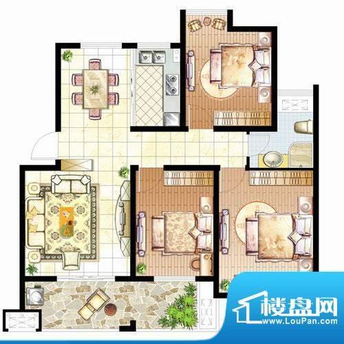 骏和玲珑湾B户型3室面积:0.00平米