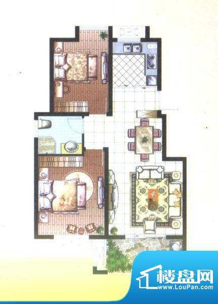 骏和玲珑湾D户型2室面积:0.00平米