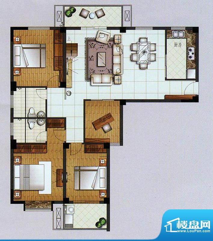 水杉御景7#楼六层 4面积:137.57平米