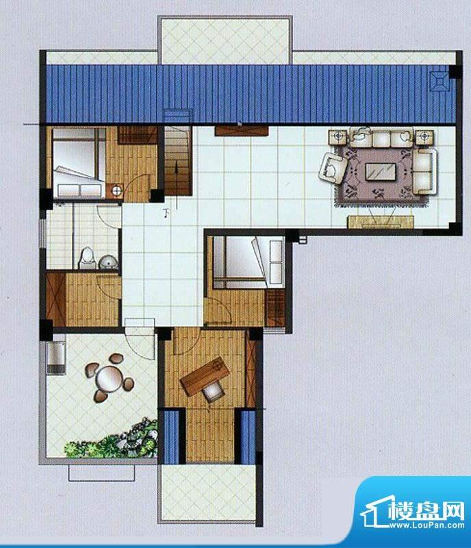 水杉御景7#楼阁楼 4面积:55.68平米