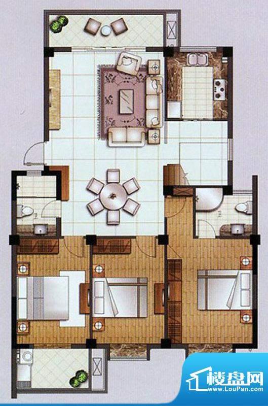水杉御景10#楼六层 面积:127.75平米