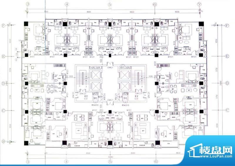 金洲国际公寓平面图面积:0.00m平米