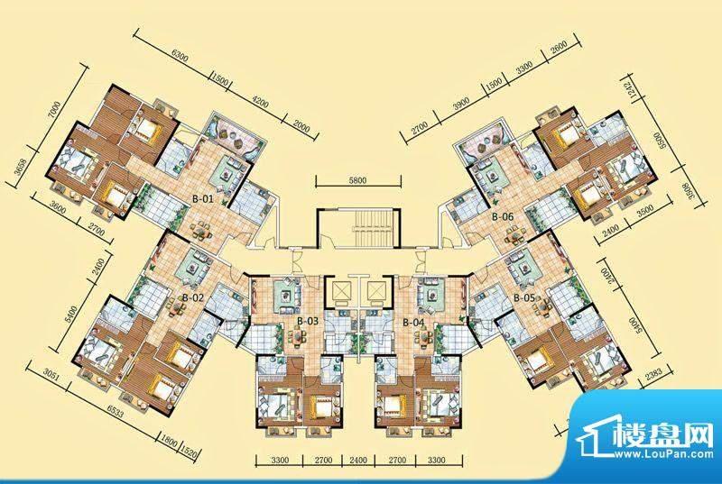 南湾豪庭13栋、15栋面积:121.90m平米