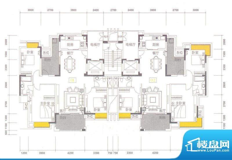 世界观22栋 5-16层 面积:0.00m平米