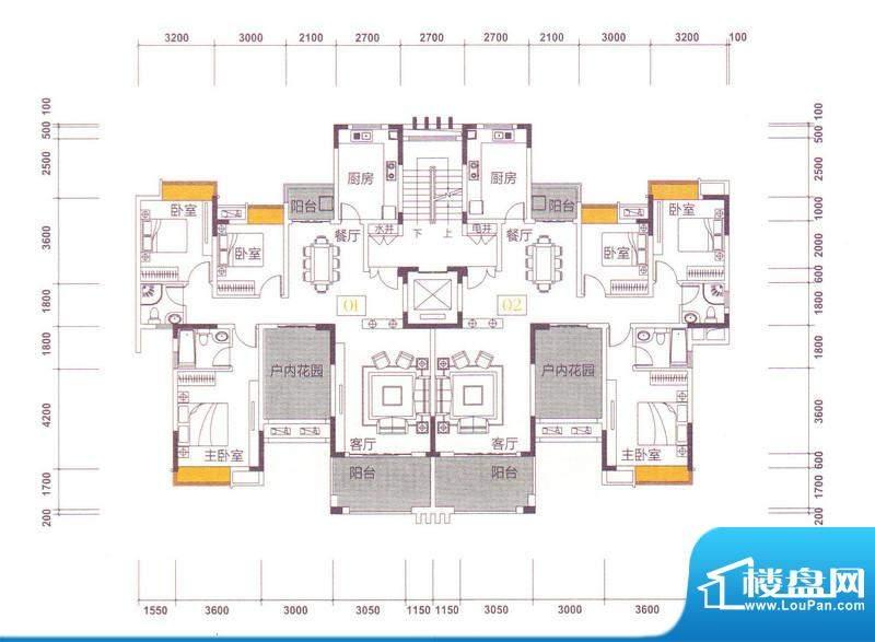 世界观20栋 4-11层 面积:142.00m平米