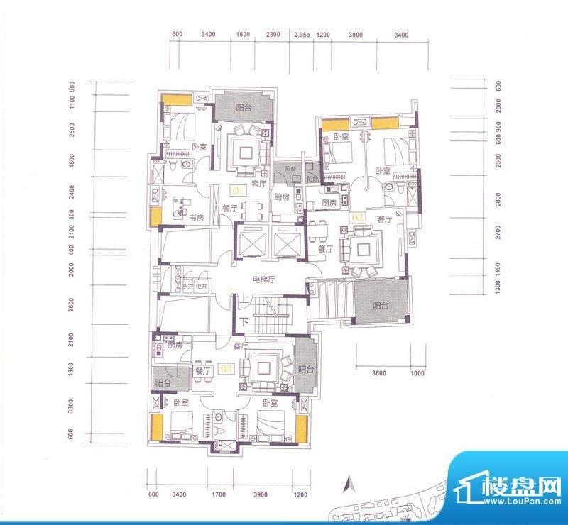 世界观30栋 4-12层 面积:0.00m平米