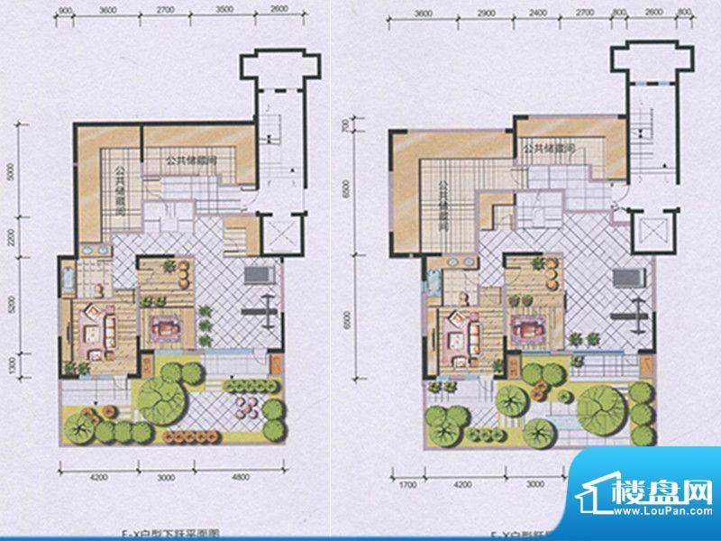 兴庆府大院F-X 6室3面积:275.14m平米
