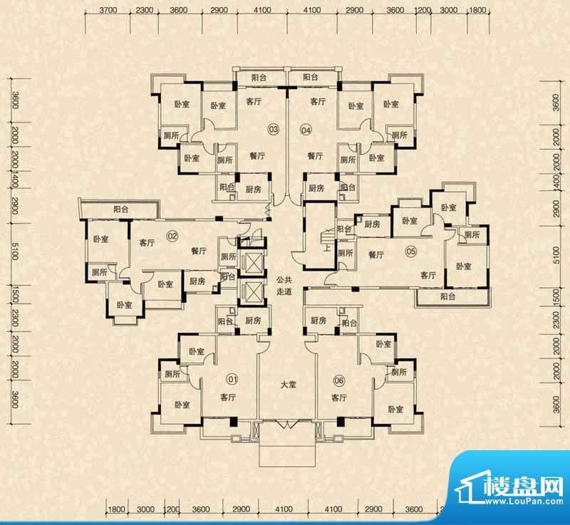 嘉怡华庭7幢首层平面面积:0.00m平米