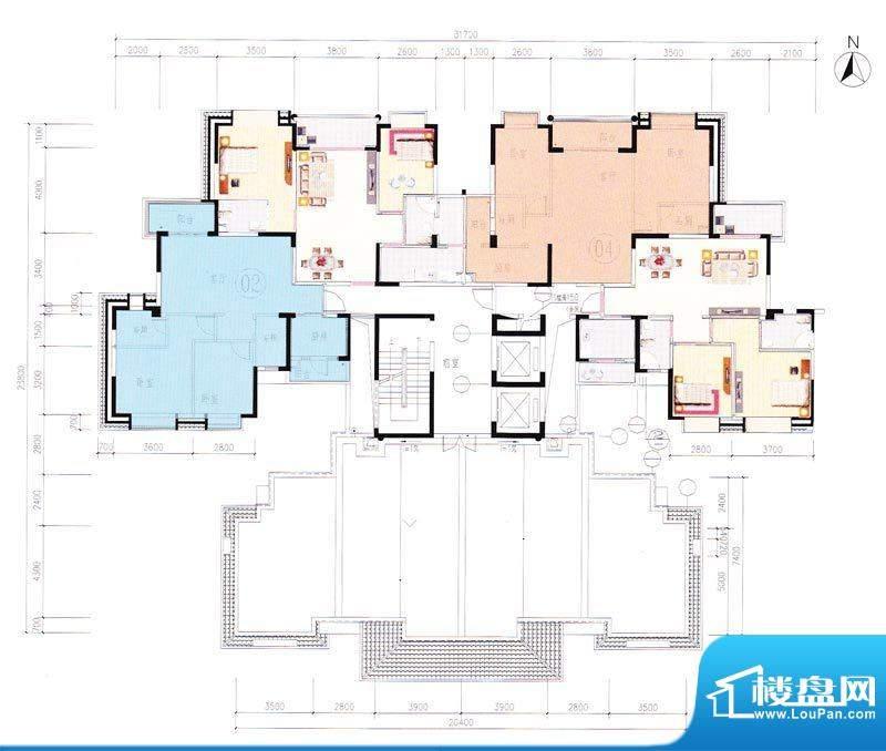 嘉怡华庭8栋一梯15层面积:0.00m平米