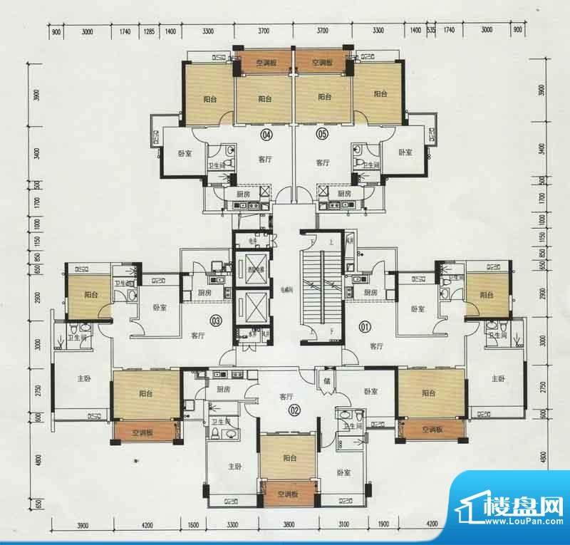 中颐海伦堡63栋标准面积:118.99m平米