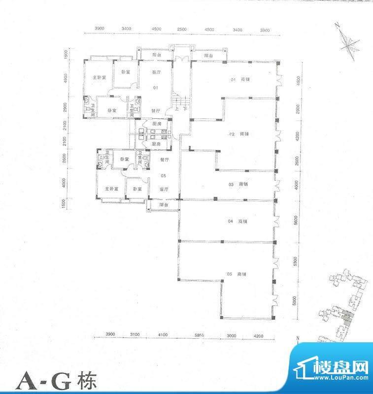 南桂园江临世家A-G面积:113.63m平米