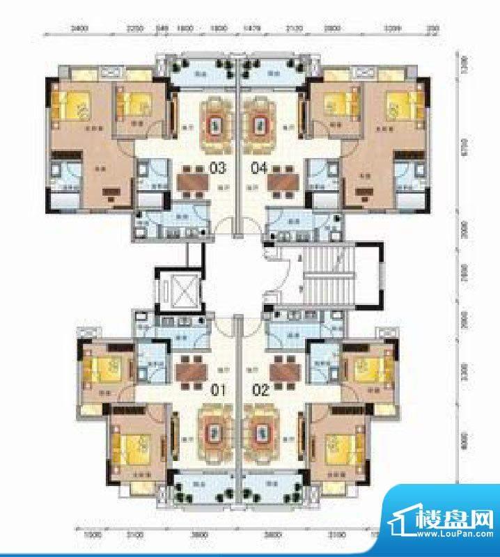 粤林豪庭5栋标准层 面积:0.00m平米