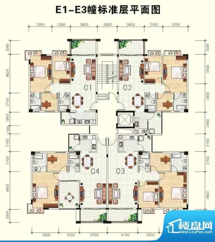雅芙花园11幢层平面面积:90.55m平米
