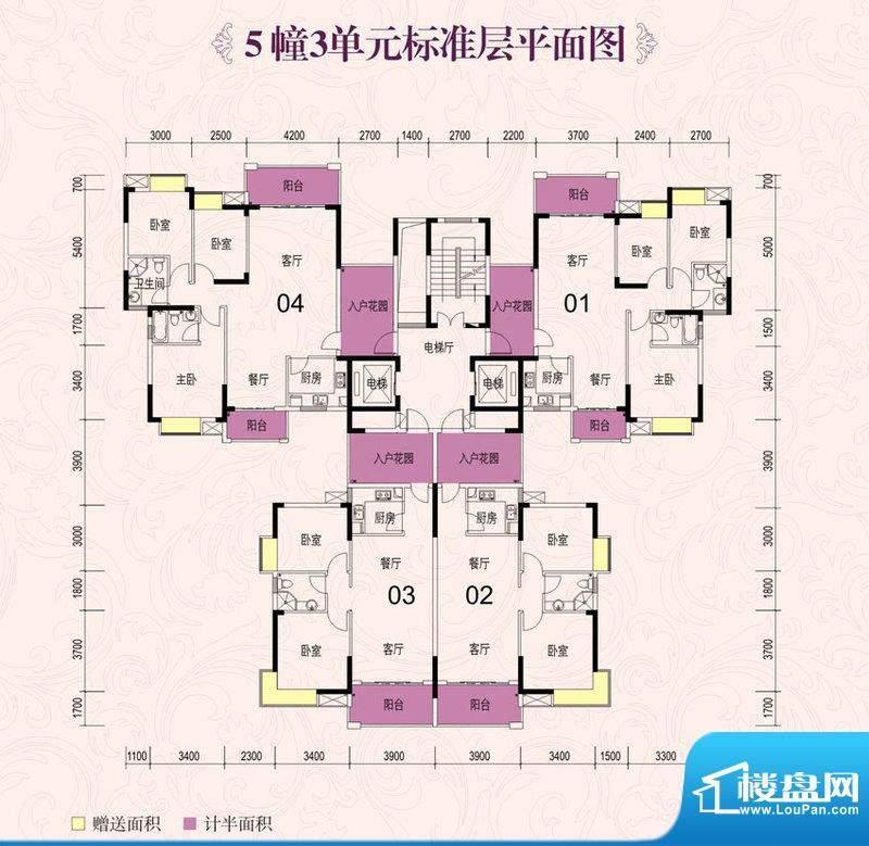 龙光海悦城邦5栋3单面积:87.58m平米
