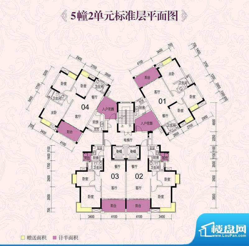 龙光海悦城邦5栋2单面积:104.83m平米