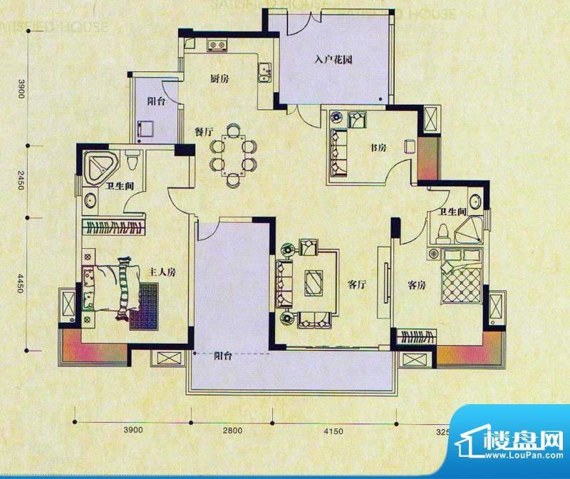 新长江顺心居12-13栋面积:145.00m平米