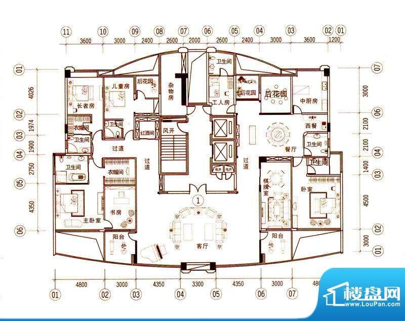 景观一品9栋 7室2厅面积:472.20m平米